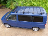 VW T5 Transporter Black Powder Coated Steel Heavy Duty ...