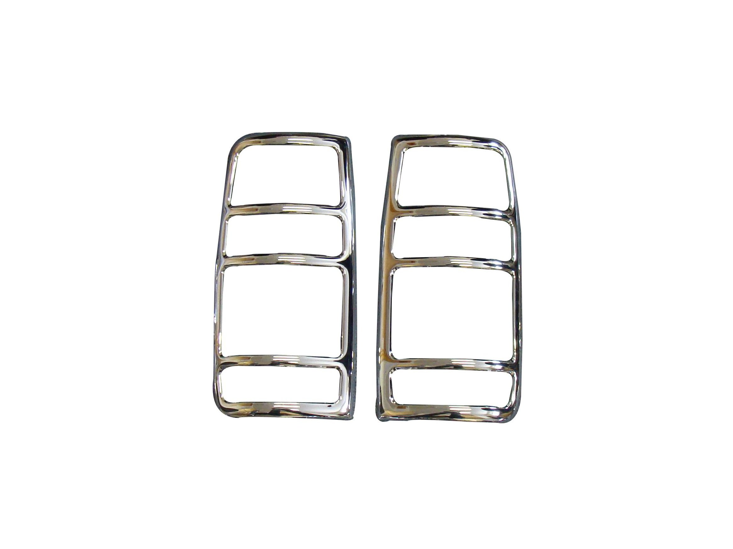 Toyota Land Cruiser Amazon Chromed Rear Tail Light Surrounds
