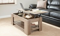 New Caspian Walnut Lift Up Top Coffee Table with Storage ...