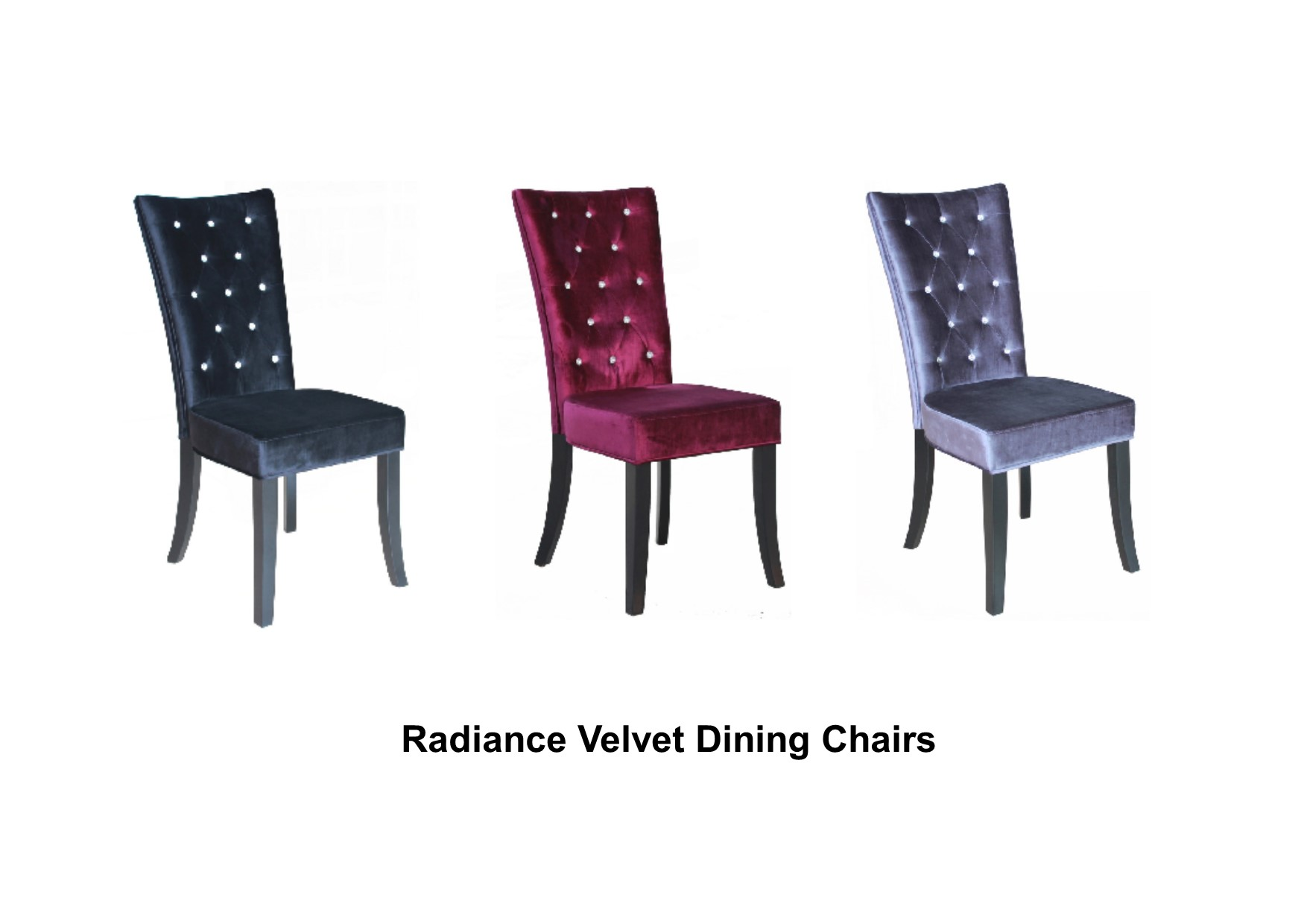 purple crushed velvet bedroom chair cushion covers amazon pair of radiance dining chairs and diamantes