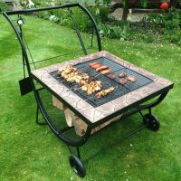 Multifunction BBQ Grill Rack Fire Pit Patio Heater Log ...