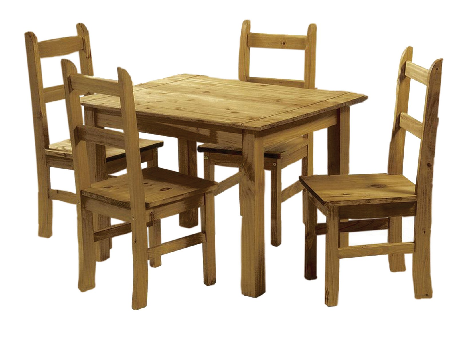 mexican dining room table and chairs blue puerto vallarta ecuador pine 4 ebay