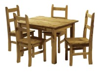 Mexican Pine Dining Table and 4 Chairs - Corona Budget ...