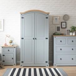 Grey Bedroom Chair Uk Cover Hire Bournemouth Corona 3 Piece Trio Furniture Set Wardrobe