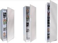White Mirrored Shoe Cabinet Storage Rack - Full Length ...