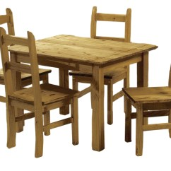 Solid Oak Dining Table And Chairs Plastic Stack Pine Set 4 Corona