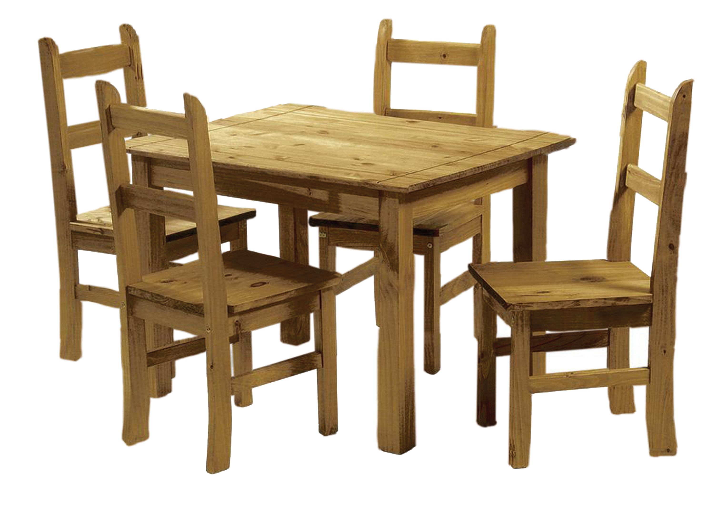Pine Chairs Solid Pine Dining Set Table And 4 Chairs Corona