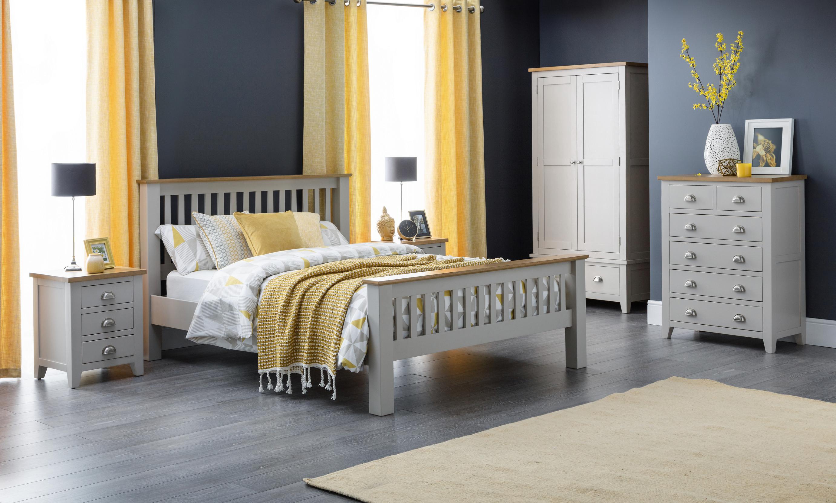 Julian Bowen Richmond Grey Oak Bedroom Furniture Metal Handles Solid Wood Ebay