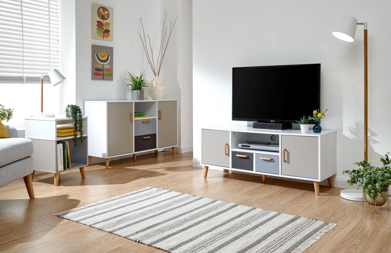 Delta White Grey Multi Tone Scandinavian Living Room Furniture Solid Wood Feet Ebay