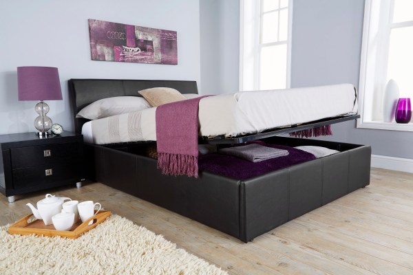 Ascot 4ft6 Double Ottoman Storage Bed With Curved