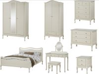 Loire Shabby Chic Ivory Bedroom Furniture - Wardrobe ...