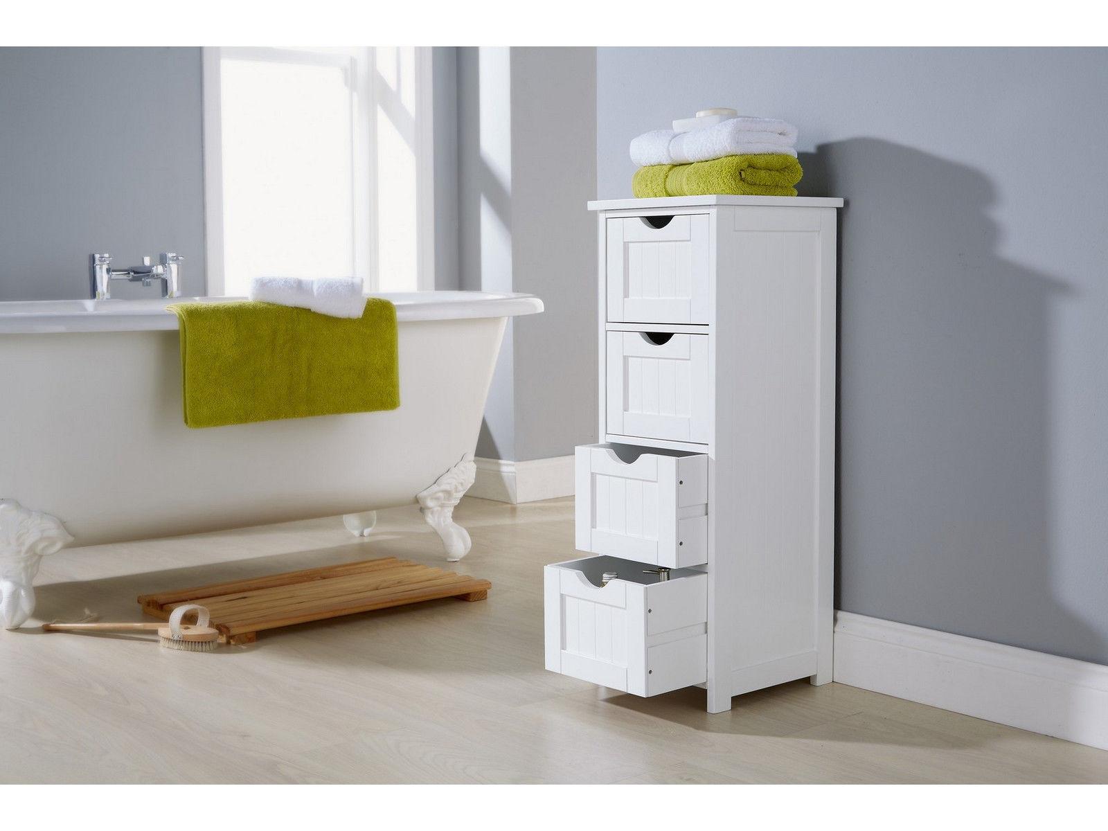Shaker Style Bathroom Cabinet 4 Drawer Storage Unit
