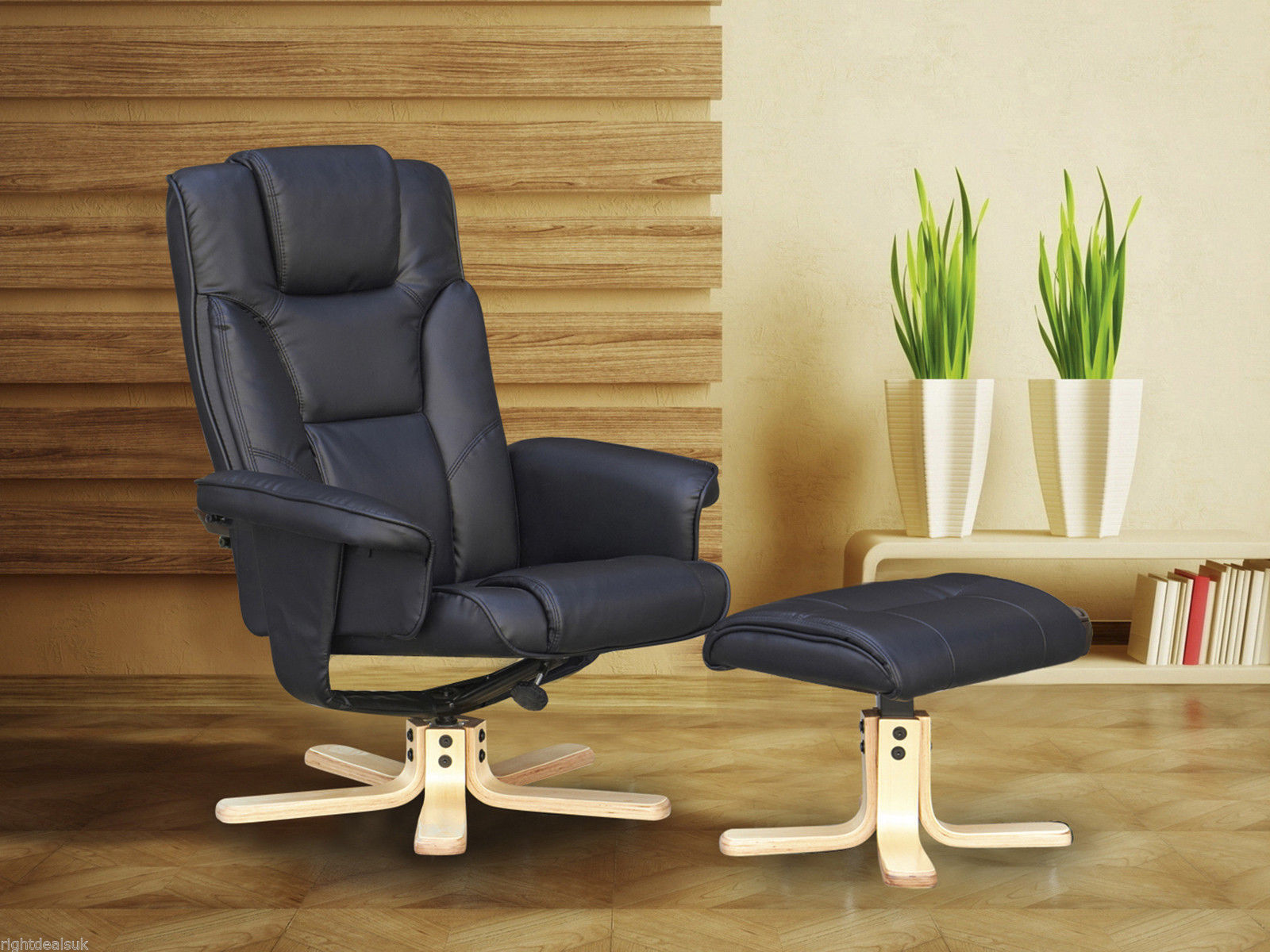 swivel chair sale uk owl covers boston recliner and footstool black or brown
