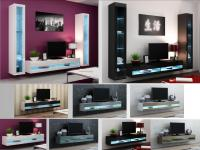 High Gloss Living Room Furniture - TV Stand, Wall Mounted ...