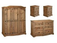 Premium Quality Corona Waxed Solid Mexican Pine Bedroom ...