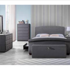 Grey Bedroom Chair Uk Rowe Keller Birlea Sorrento Fabric Furniture Bedside