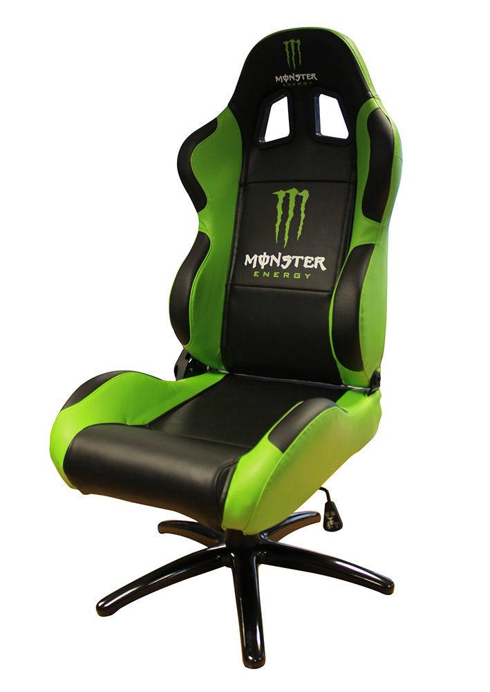 bucket racing chair karlstad cover isunda gray monster energy office executive sports seat | ebay
