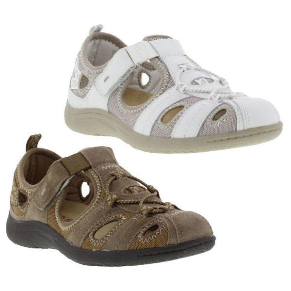 Earth Spirit Wichita Womens Brown White Suede Flat Shoes