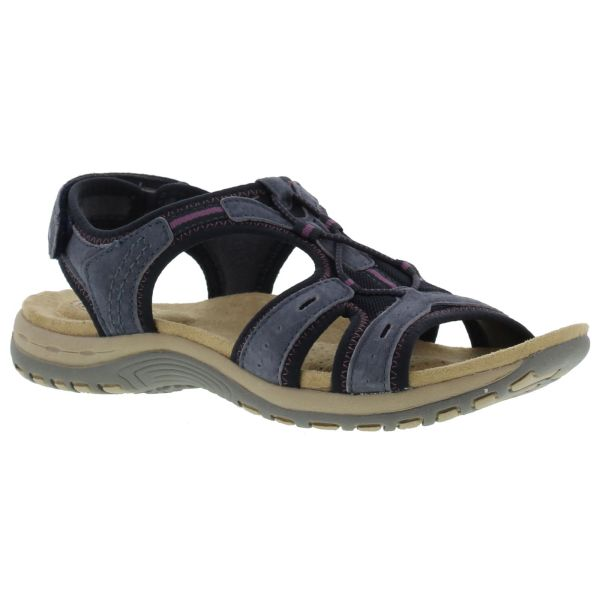 Earth Spirit Columbia Womens Blue Leather Walking Sandals