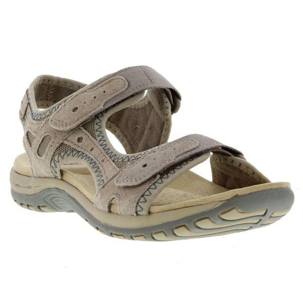 Earth Spirit Tyler Womens Adjustable Leather Sandals Grey