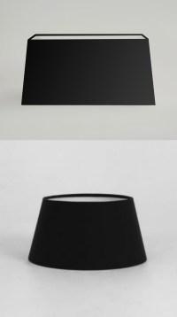 Modern Black Fabric Table Lamp Light Shade Round Drum ...