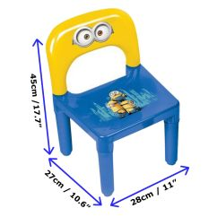 Kids Indoor Table And Chairs Best White Ergonomic Office Minions Kid 39s Plastic Play Activity Chair Set