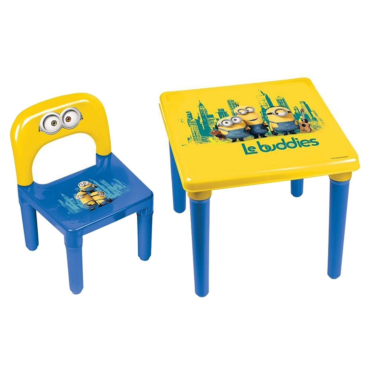 kids plastic table and chairs hanging chair auckland minions kid 39s play activity set