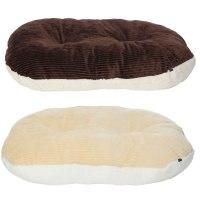 Bunty Oval Dog Pet Puppy Cat Bed Fleece Round Cushion Hard ...