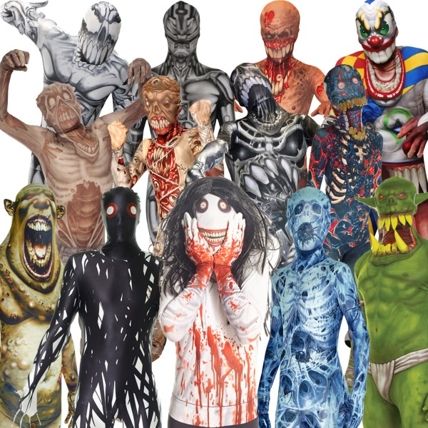 Morphsuit Monsters Kids Boys Girls Fancy Dress Costume