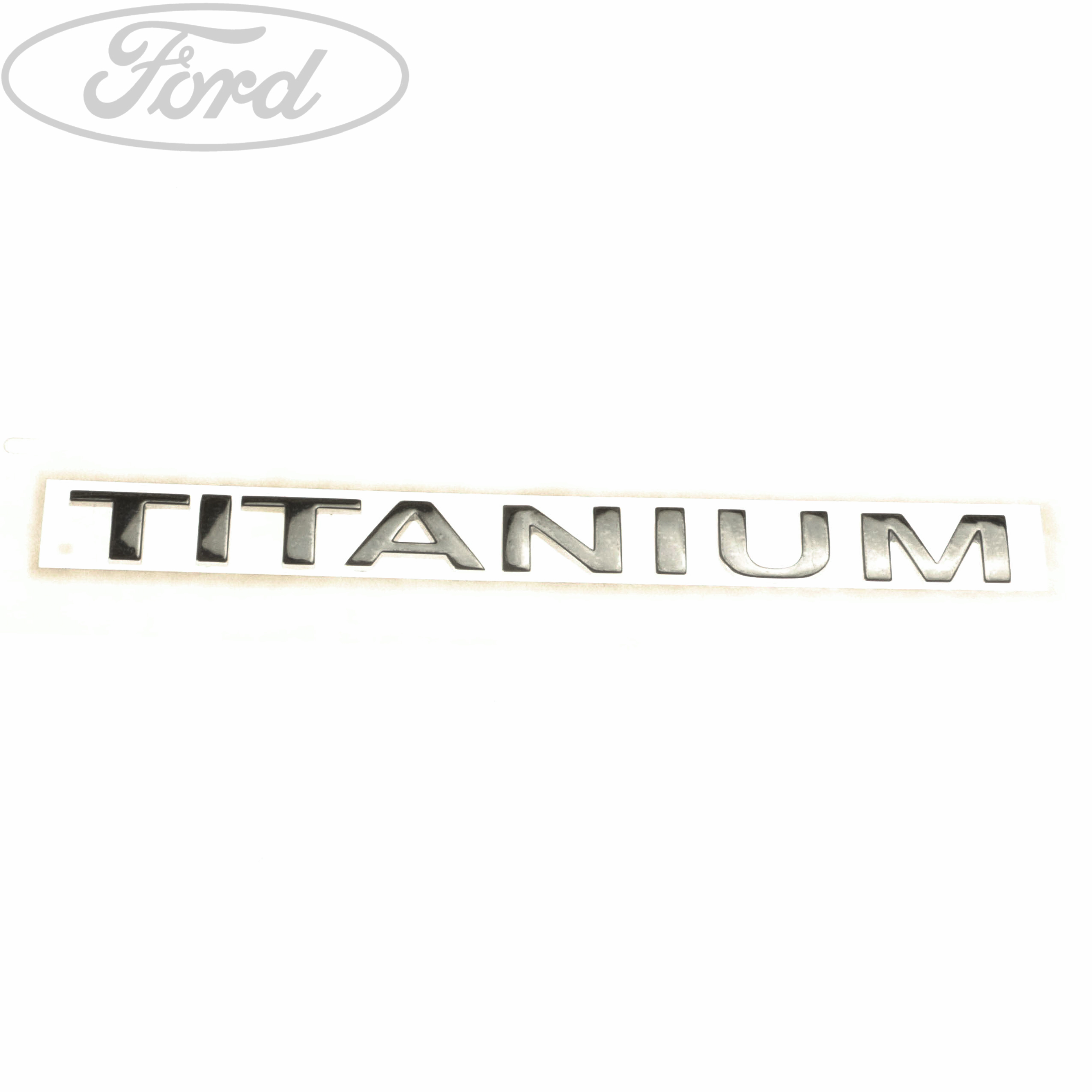 Genuine Ford Titanium Tailgate Name Plate Badge Emblem