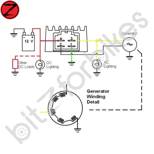 Rectifier Wiring Diagram 6 Pin    Wiring Diagram