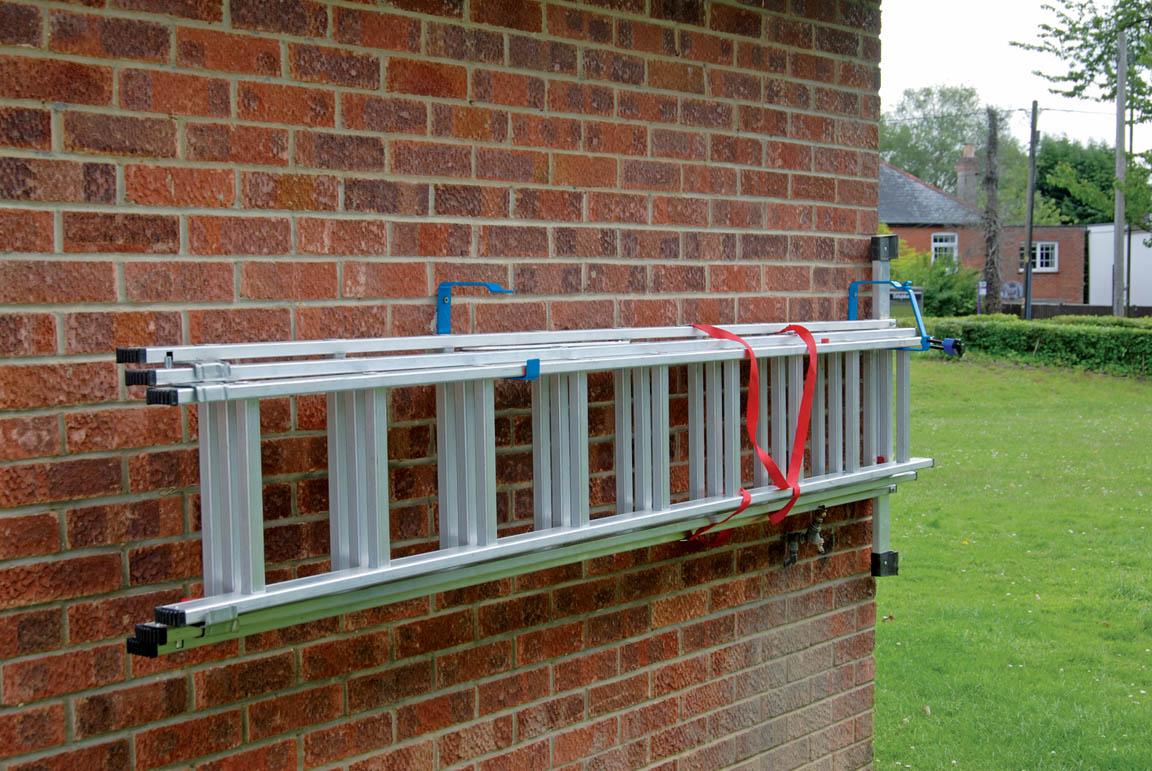 draper lockable wall ladder rack