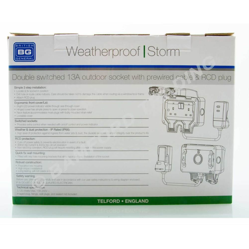 medium resolution of  masterplug weatherproof outdoor mains power kit nexus wp22kit 3 thumbnail 3