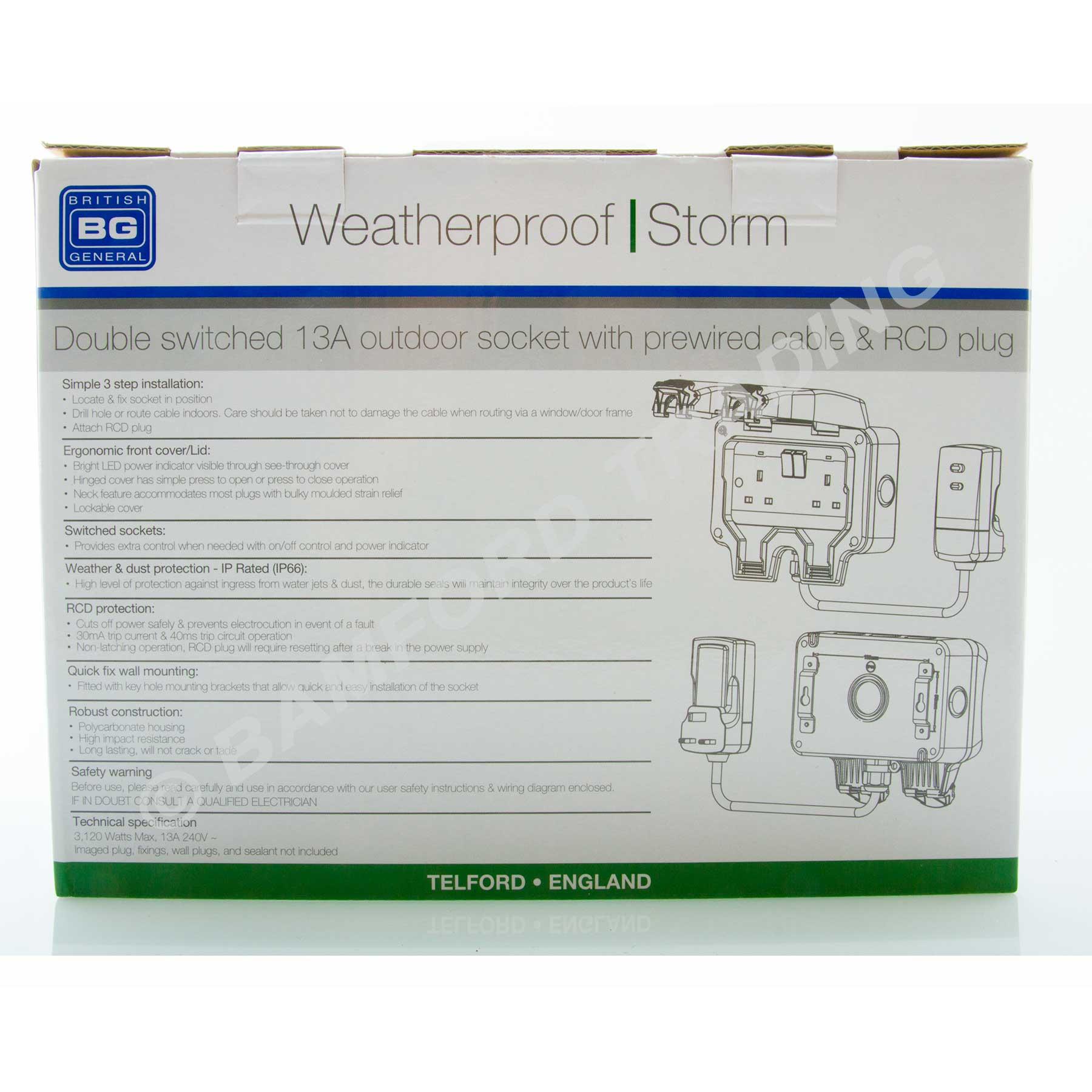 hight resolution of  masterplug weatherproof outdoor mains power kit nexus wp22kit 3 thumbnail 3