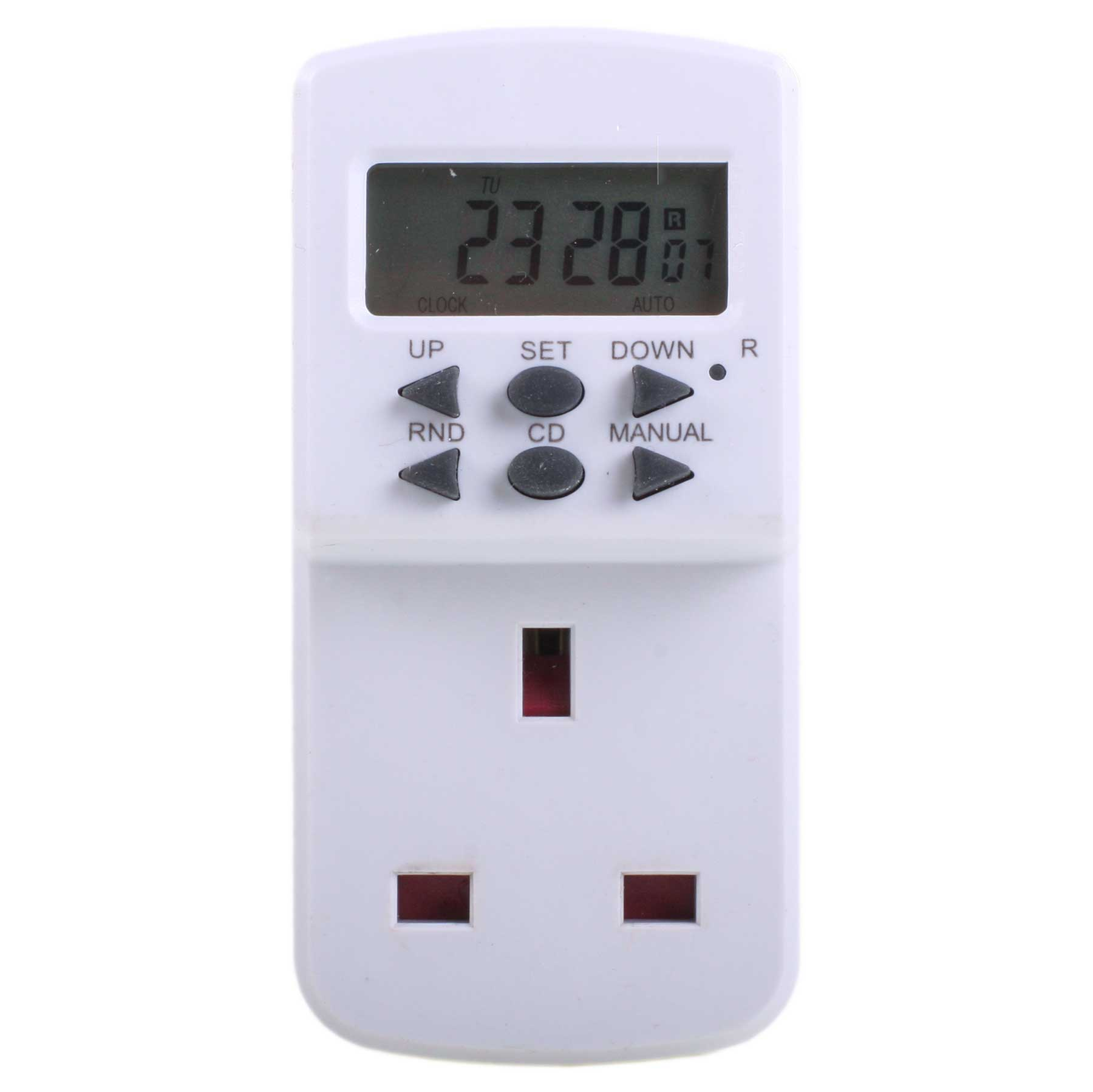 Masterplug TE7 MP 7 Day Plug In Digital Timer Switch