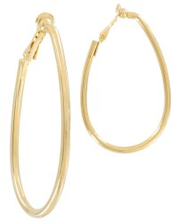 USA Made Gold Hoop   3245-72-F   Clip On Earrings ...