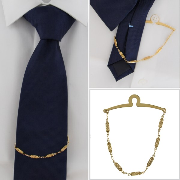 Tie Clip with Chain