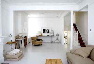 Blanco y vintage Casas con decoración vintage
