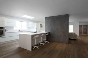 minimalista casa dan moderna brunn hayvenhurst cocina vivienda modern california californiana architecture minimalistas interiores interior dapur putih kitchen equilibrio perfecto
