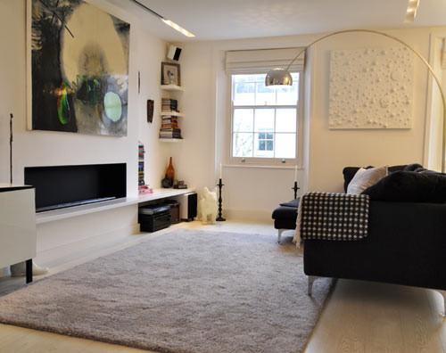 Un 3 ambientes londinense  Decoracin departamentos modernos