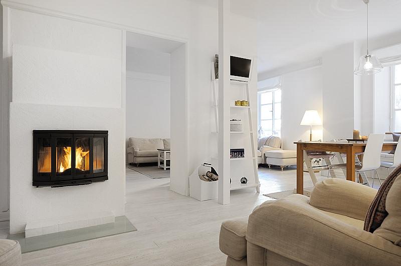 Estilo moderno en blanco absoluto  Apartamentos modernos