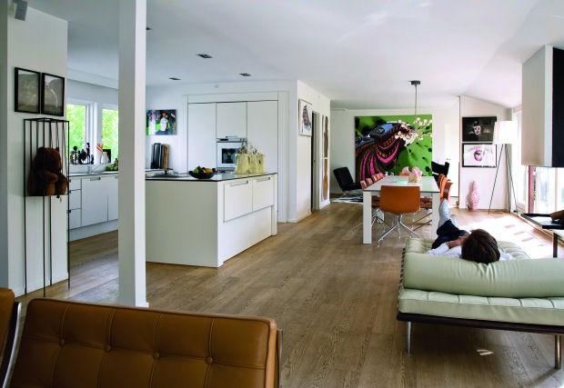 Arte y colores en la decoracin de una casa moderna
