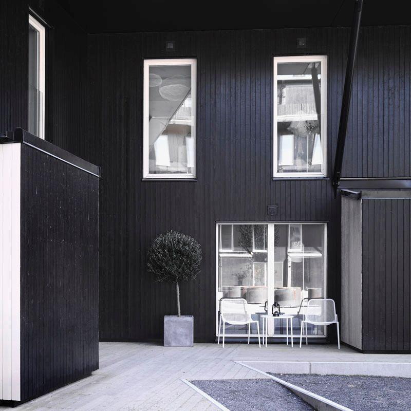 Casa con interiores en estilo nrdico en distintos tonos