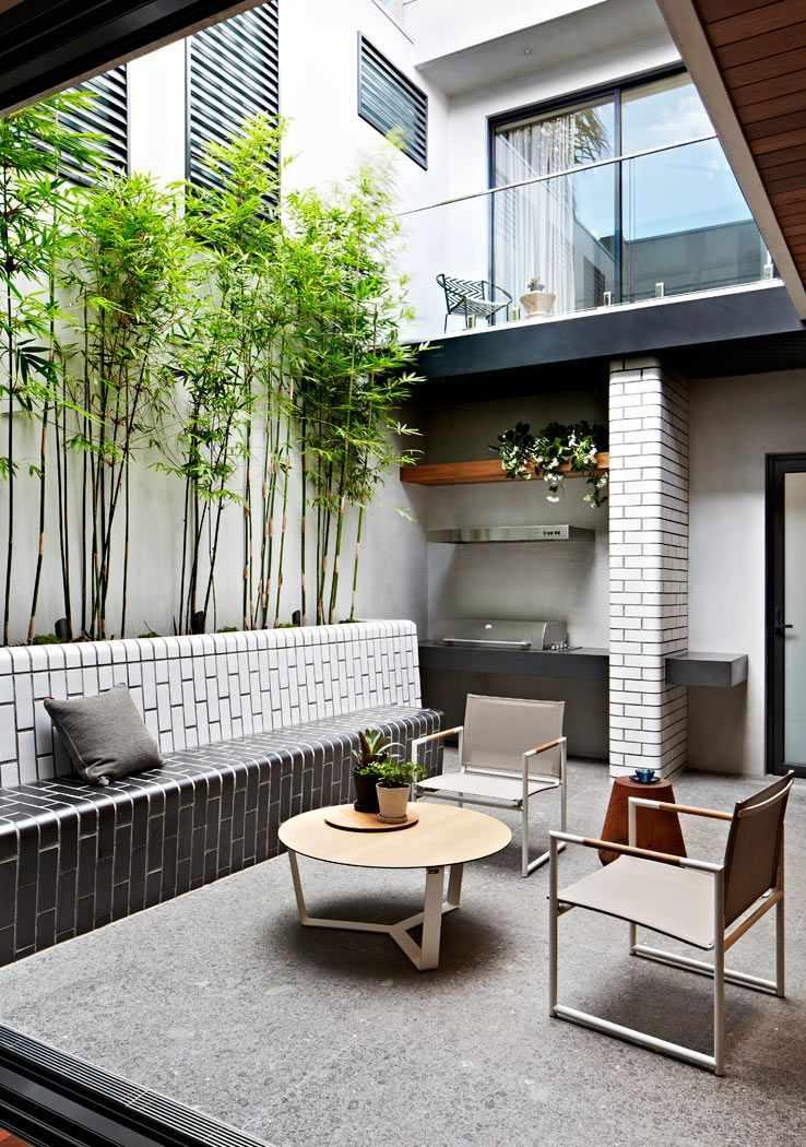 Exteriores un patio interno pequeo de diseo moderno