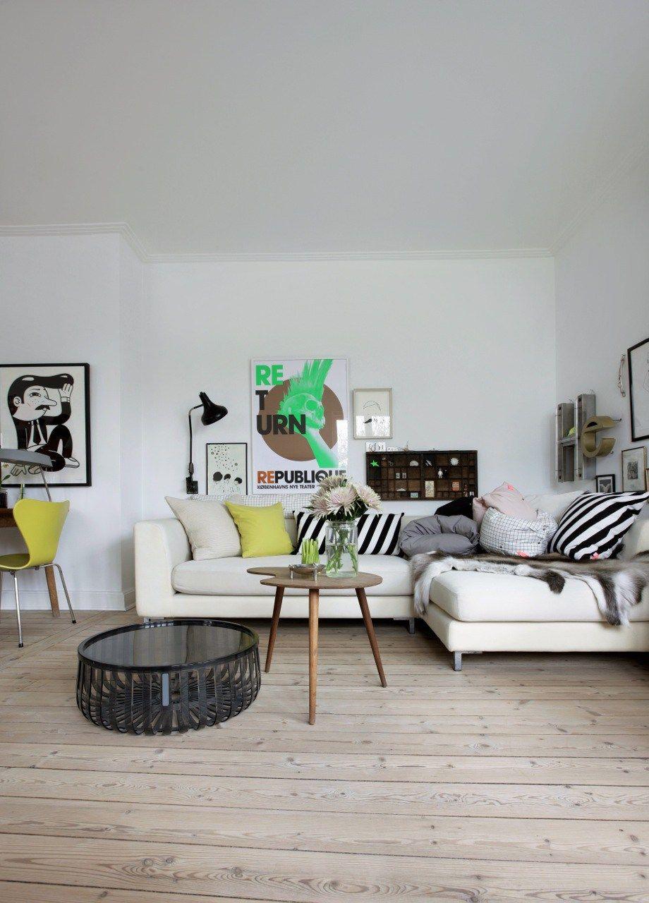 Casa pequea con interiores nrdicos vintage en Dinamarca