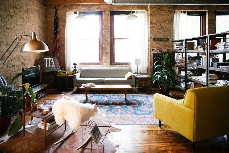 Loft estilo industrial y vintage con ideas para dividir