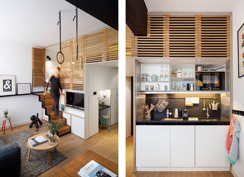 Decoracin de Lofts Mini loft moderno en Amsterdam