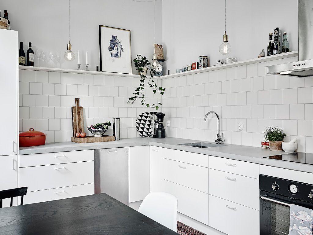 Cocinas Con Mesadas De Microcemento Alisado