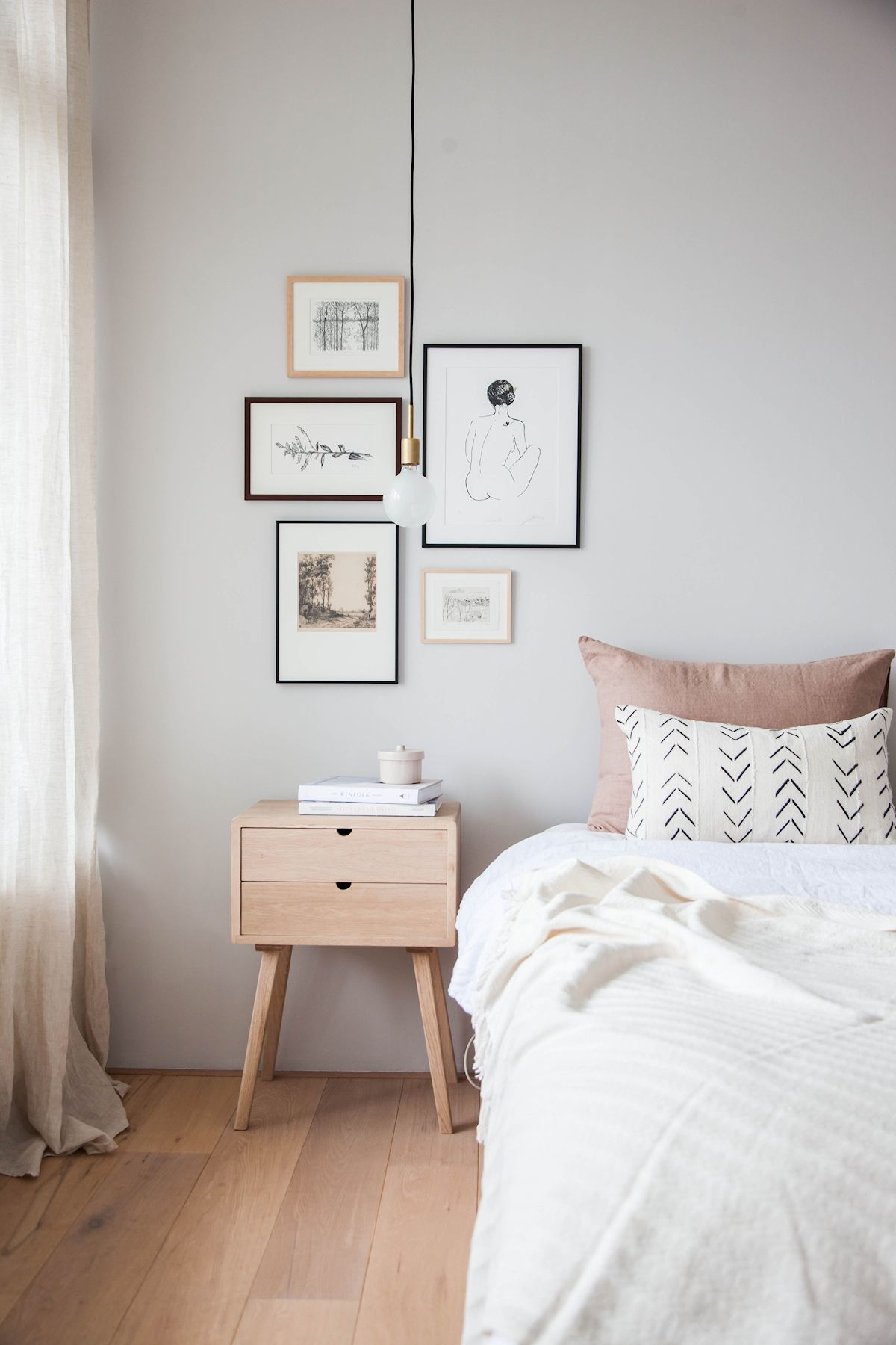 Antes y despus en decoracin dormitorio minimalista y clido