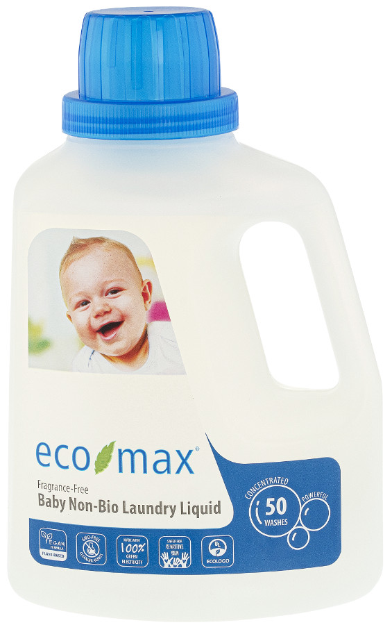 Eco Max Non Bio Baby Laundry Detergent Fragrance Free 1 5l 50 Washes Eco Max
